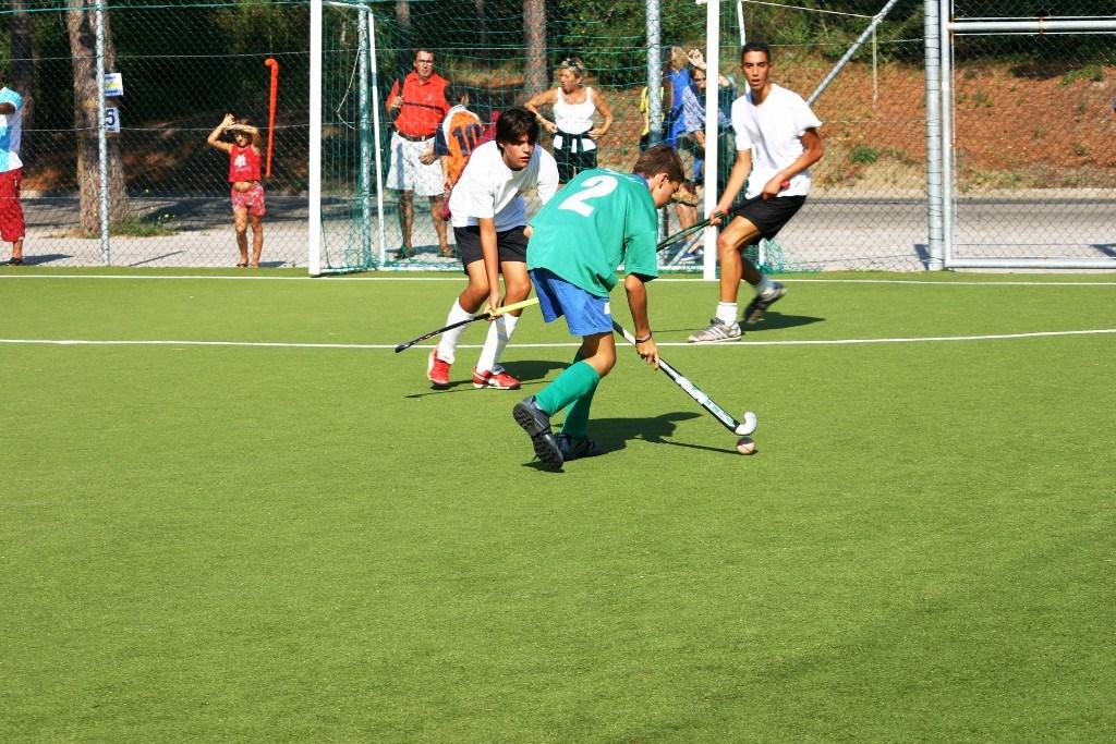 Un immagine di un emozionante partita al festival per giovani a Lignano Sabbiadoro